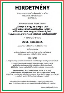 Népszavazás - 2016. október 2.